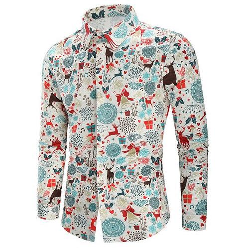 Christmas Retro Men's Shirt- 2 Colours