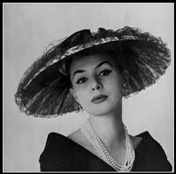 1950s wide brim hat