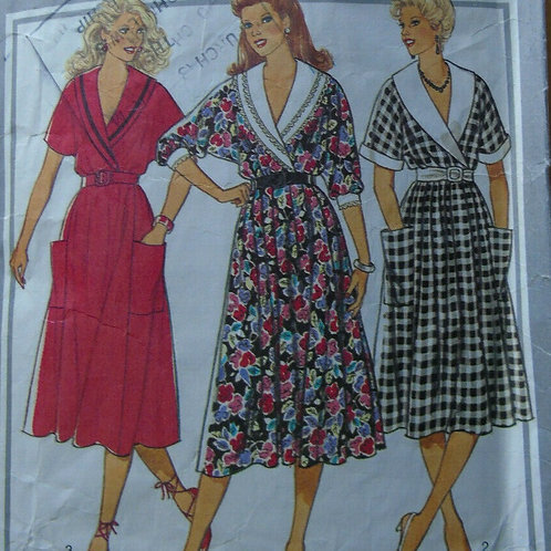 3 Vintage Day Dresses Sewing Pattern- size 16