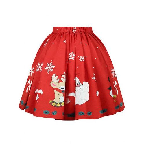Christmas Red Full Skirt- 2 designs