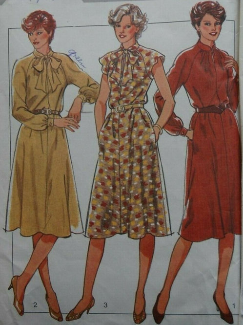 3 Vintage Day Dresses Sewing Pattern- sizes 16,18,20