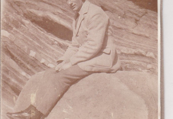 Young man on a Beach 1920s