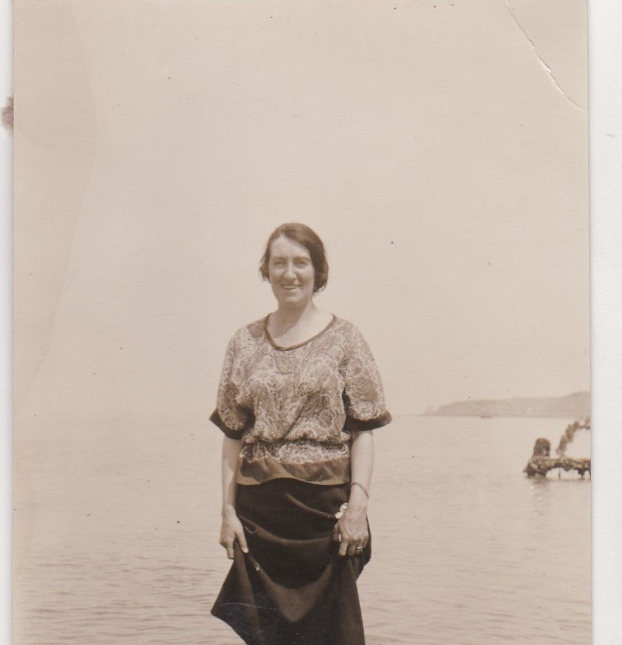 Lady Paddling 1920s