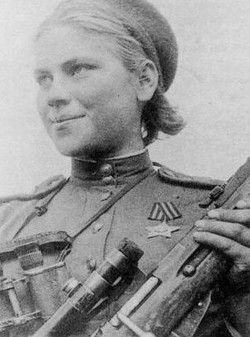 Russian solider girl