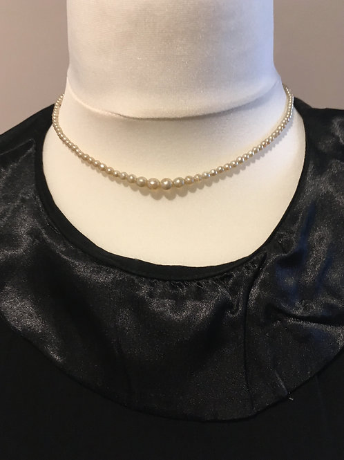 Classic ' Milky Grey' Graduated Glass Faux Pearls