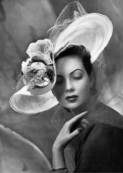 1950s hat fashion shot by Philippe Potti