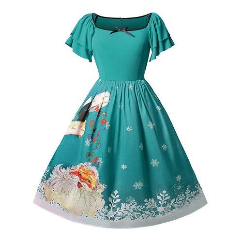 Angel Sleeve Christmas Dress- 4 colours- 14 -22 sizes