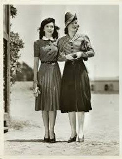 Photo of two women in the 1940s