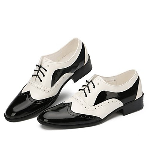 MEN's Two Tone Patent Leather Shoes