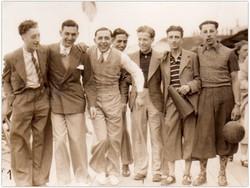 British men on a beach