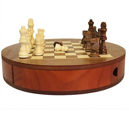 Round Chess Set with Draws
