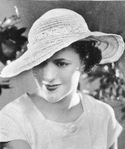 1930s straw hat