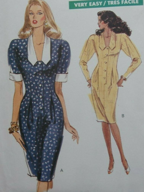 2 Vintage Day Dresses Sewing Pattern- sizes 18,20,22
