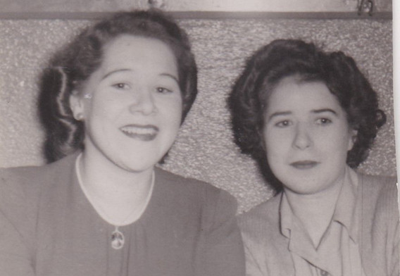 Two young ladies 1950s