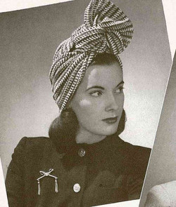 1940s scarf made into a turban