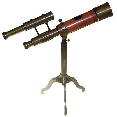 Antique Looking Telescope with Stand