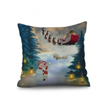 Large Christmas Linen Cushion Covers