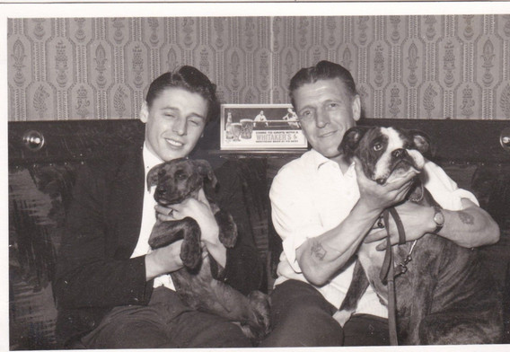 Men with dogs 1960s