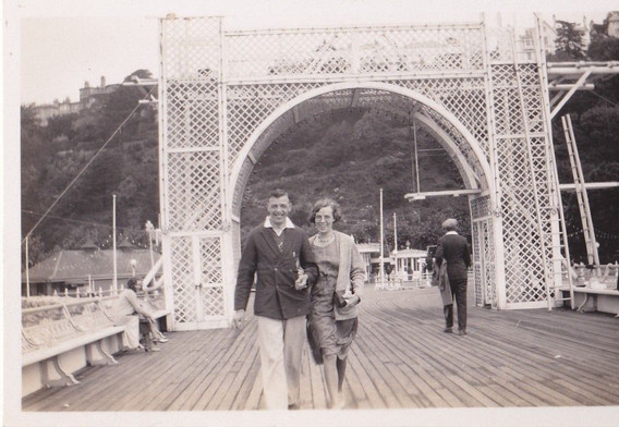 Couple on Torquay Pier 1930s