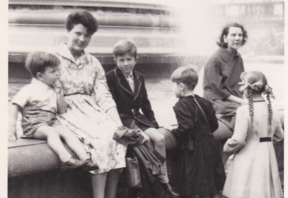 Mother and children 1950s