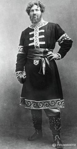 Feodor Chaliapin, a Russian opera singer