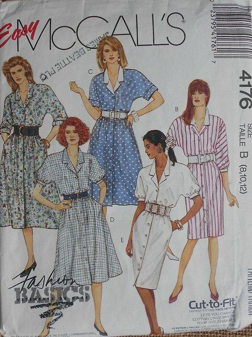 5 Vintage Day Dress Sewing Pattern