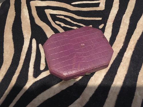 Purple Crocodile Mirrored Powder Compact