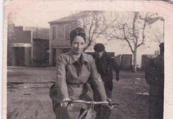 Lady on a Bike 1940s