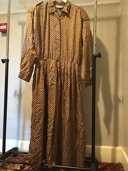 Silk 'Military Style' Dress
