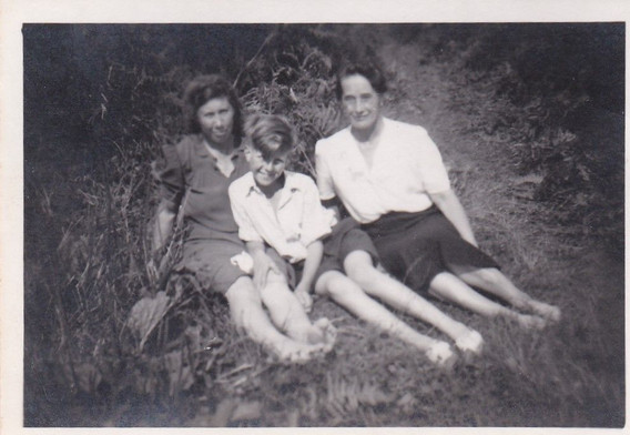 Young Granny, Mum and son . Dad away fighting the war ?1940s