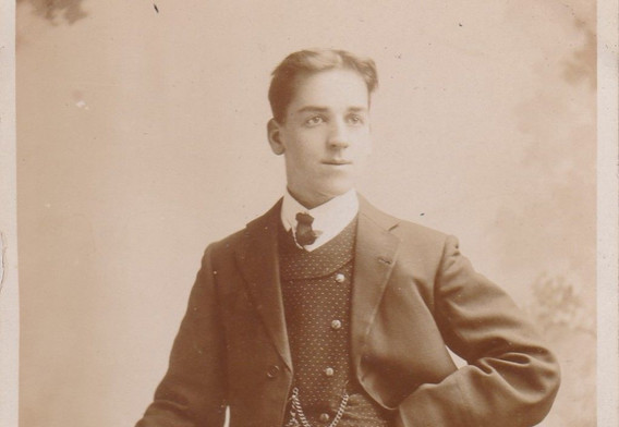 1890s-Young Man in a Three Peice Suit