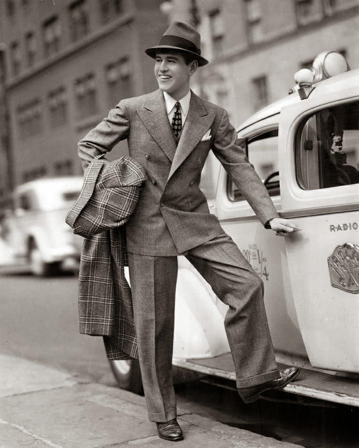 Double breaste suit and tweed overco