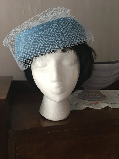 Pill Box Hat with Rosette Hat Box