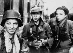 polish boyscout soilders  Warsaw uprising