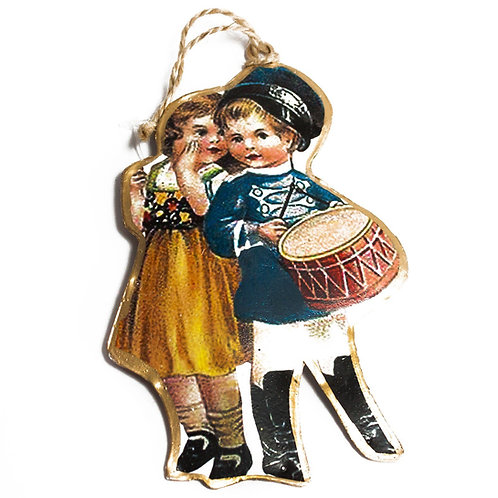 Victorian Children Tin Xmas Tree Ornaments-4 designs