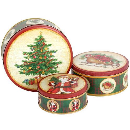 Christmas Storage Tin set of 3