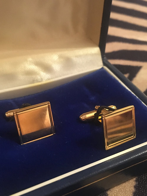 Vintage  Mirror Shine  'Gold' Cufflinks