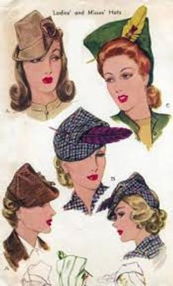 1940s everyday hats