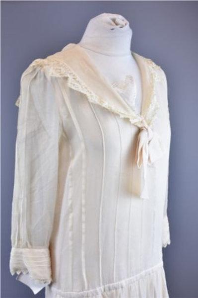 Designer 1920s Silk Dress
