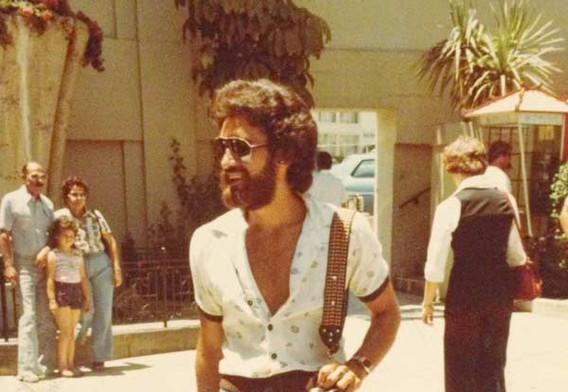 late 1970s mens fashion, jeans & beard