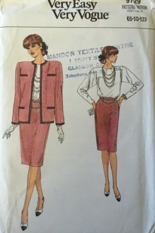 'Chanel Style Suit' Vintage Sewing Pattern'
