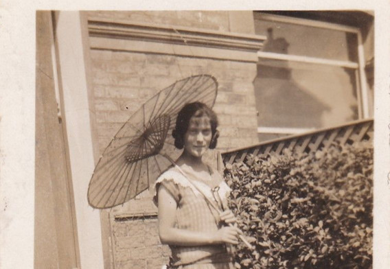Young Woman with an Unbrella 1920s