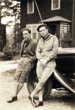 French Men in driving gear