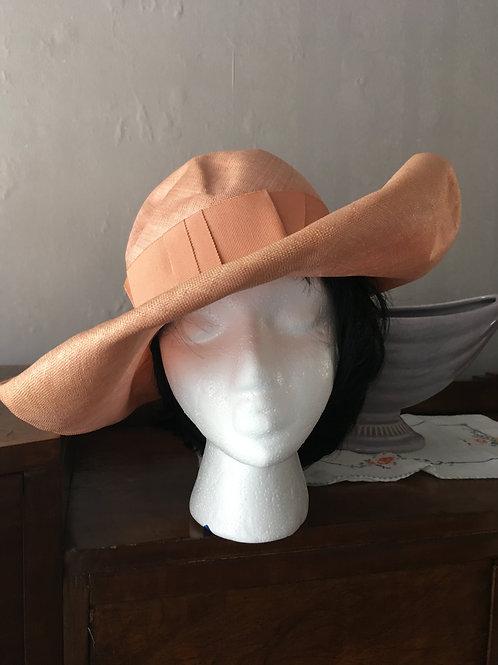 Wide Brim Linen Hat