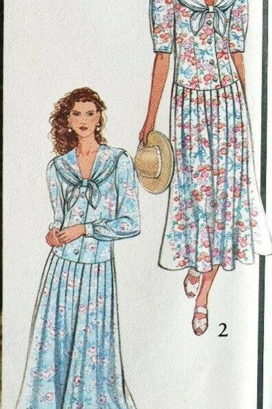 2 Vintage Day Dresses Sewing Pattern- sizes 6-18