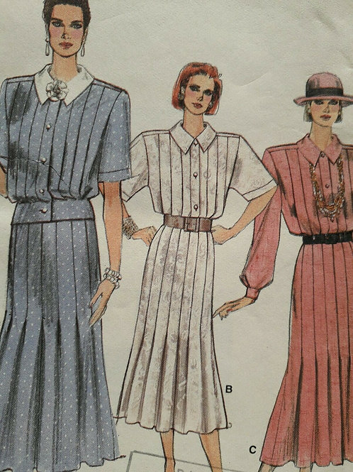 3 Skirt & Blouse Suit Sewing Patterns