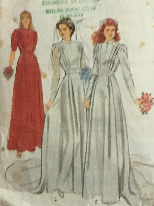 3 Vintage Wedding Dresses Sewing Pattern- size 16