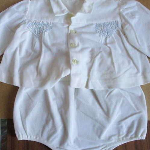 Vintage Baby Outfit with Smocking