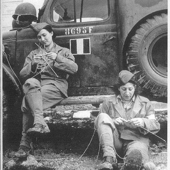 french soliders in Italy