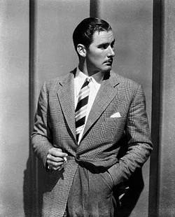 Errol Flynn in a Tweedy number